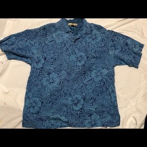 vtg Tommy Bahama 100% silk short sleeve button up